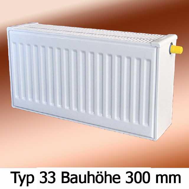 Buderus Ventil Kompakt Heizk/örper Profil VC-Profil Typ 33 H/öhe 400 mm L/änge 2300 mm mit Wandhalterung