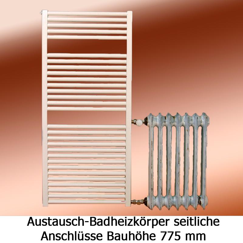 badheizk rper mit seitenanschluss h he 775 mm handtuchw rmer. Black Bedroom Furniture Sets. Home Design Ideas