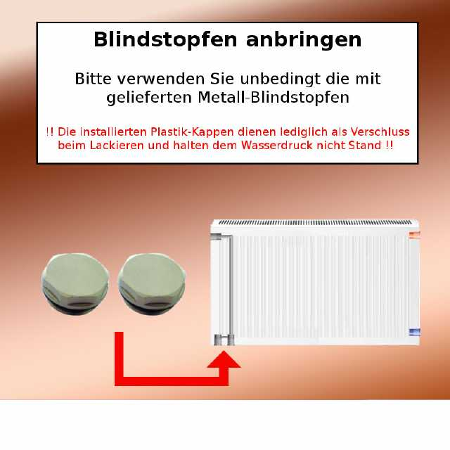 Ordentlich Austauschheizkörper für Rippenheizkörper Typ 22 Nabenabstand 500 mm RL73