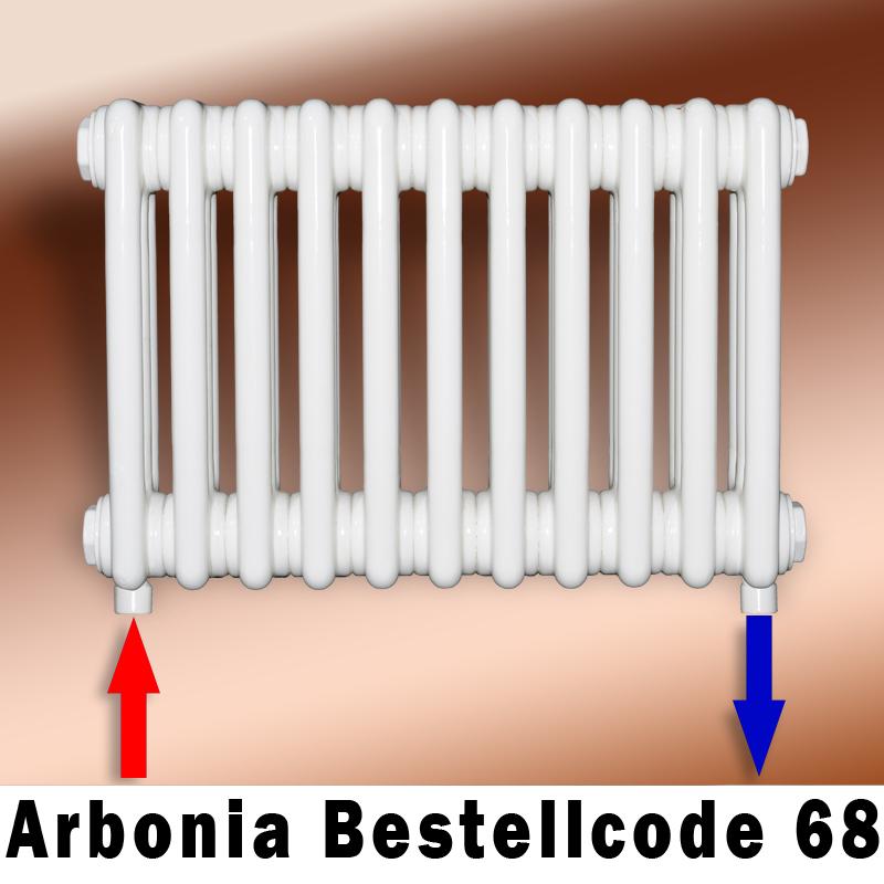 Relativ Arbonia Anschlussbild 68 für Arbonia Röhrenheizköper FG04
