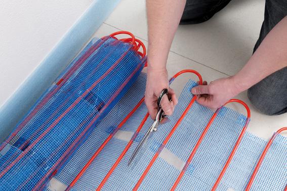 warmwasser fussbodenheizung f r badezimmer 8mm rohr f r renovierung. Black Bedroom Furniture Sets. Home Design Ideas