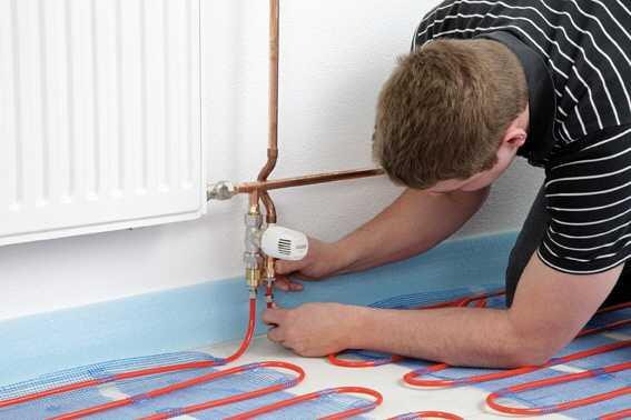 verlegung warmwasser fu bodentemperierung f r bad etc. Black Bedroom Furniture Sets. Home Design Ideas