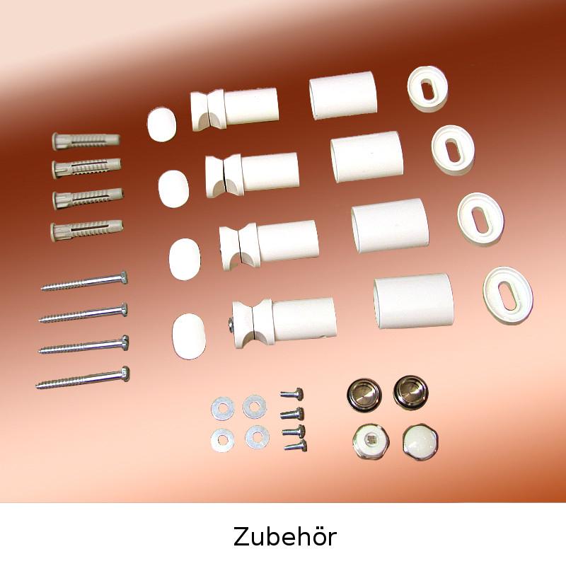 Badheizk/örper Montage SET Wei/ß
